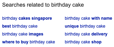 Keyword Example Related Search Terms