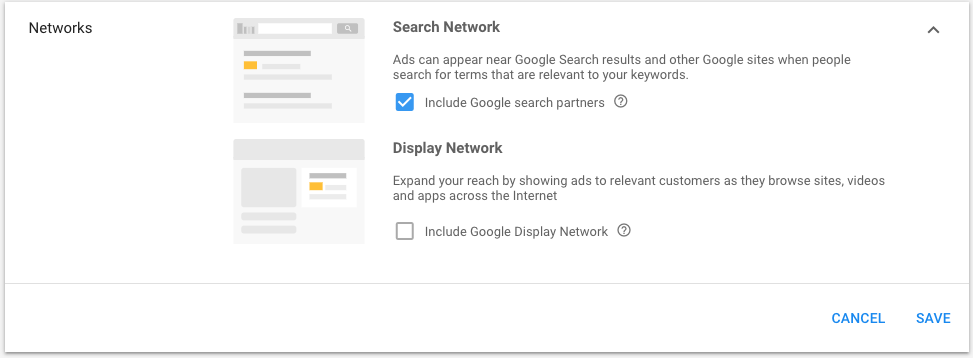 7.3 Google Search Network Option