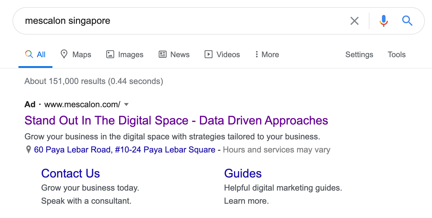 Search Ads - Extension Feature