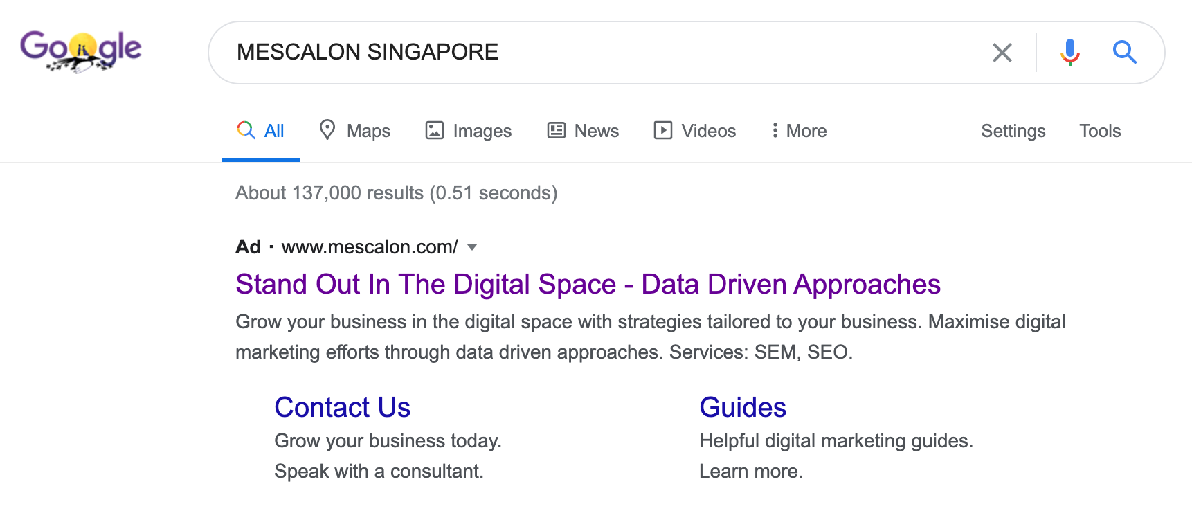 Search Ad Example
