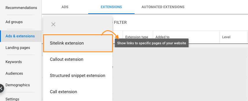 Setting Up Extensions